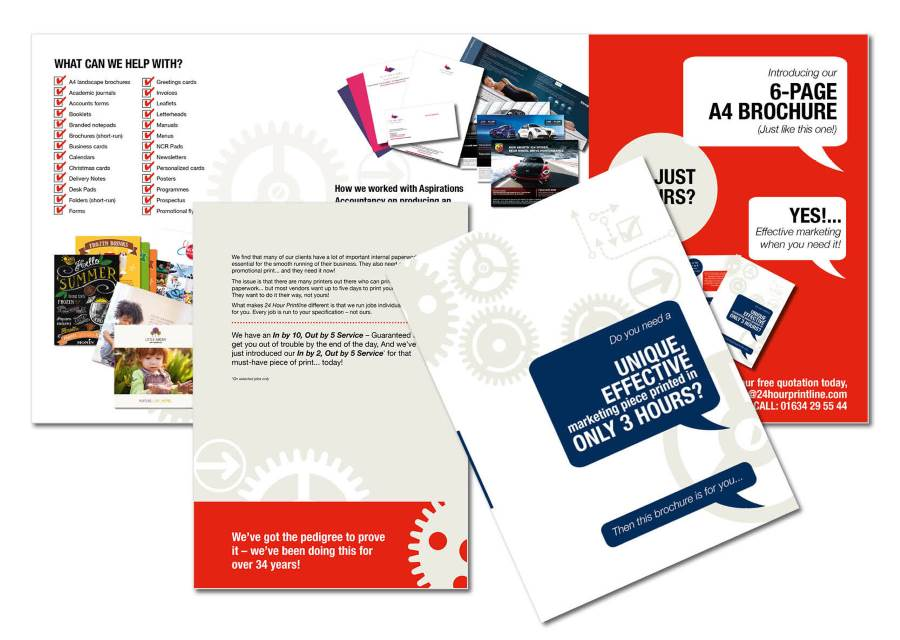 More examples of the brochures that we can print
