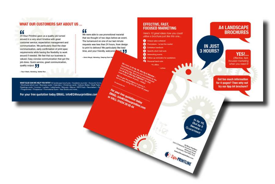 Examples of brochure and folder printing
