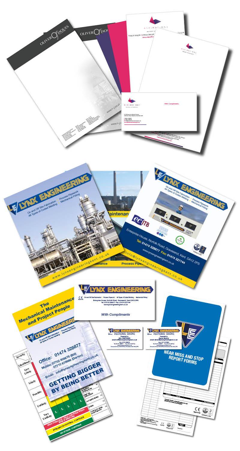 Examples of business stationery