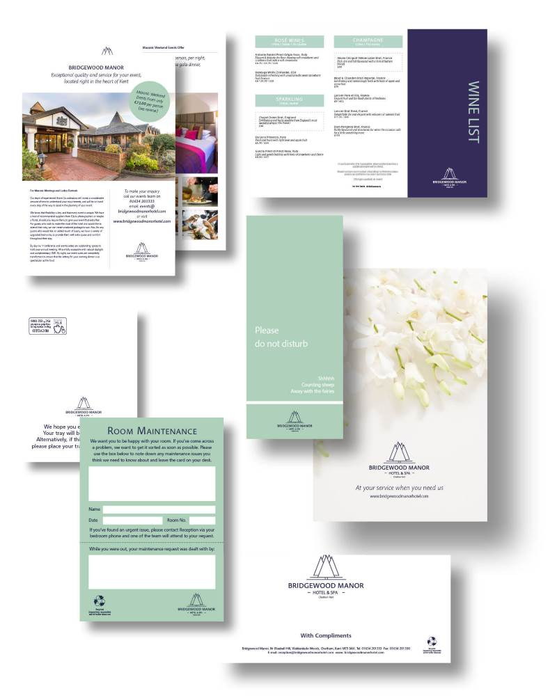 Examples of brochures designed by our inhouse Graphic Designers