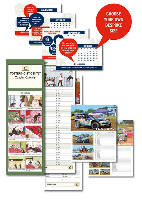 Selection of bespoke calendars