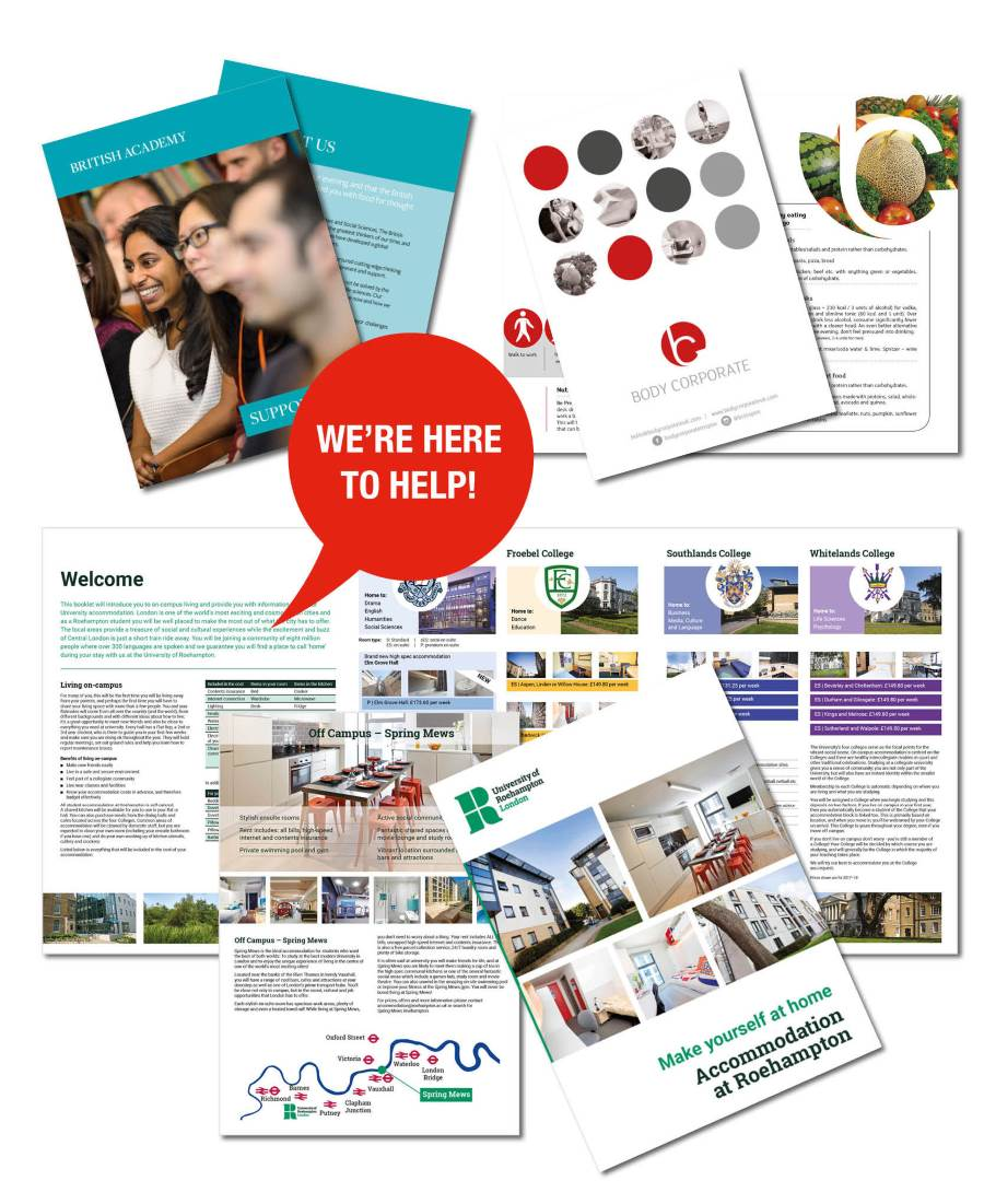 Our experienced team of graphic designers ready to help you design your brochure