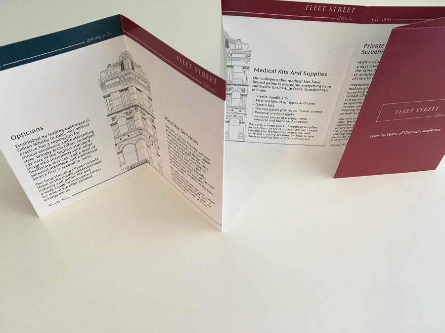 Folded leaflets and guides