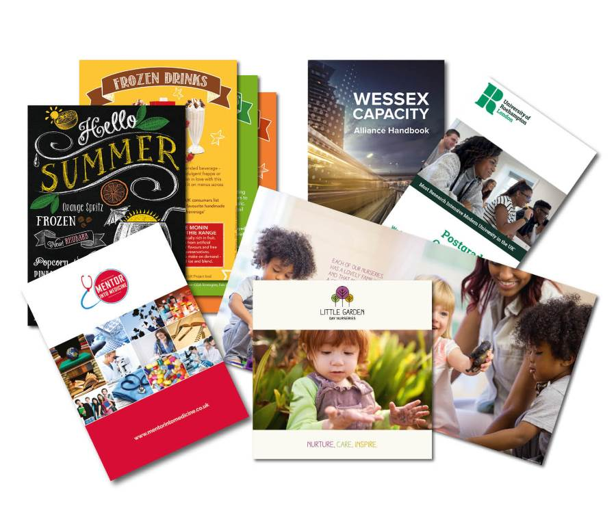 Selection of event brochures