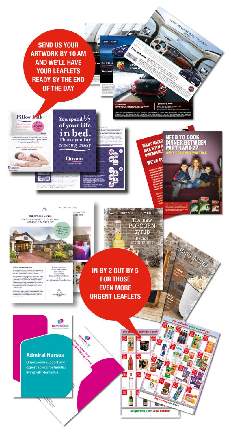 Flyers and promotional leaflets